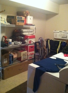 Laundry room/mucho storage! I love having a washer and dryer right in my home!