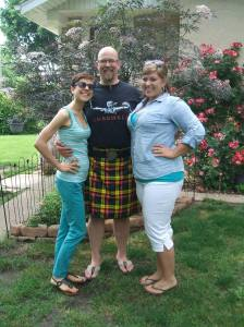 Yup, that's his kilt in Buchanan plaid!