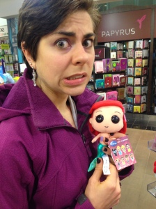 While waiting for our train home, we found these terrifying stuffed dolls for Disney. This was demon Ariel