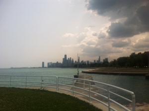 View of downtown from Belmont Harbor