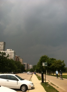 Had to race a summer storm home on one of my walks
