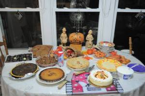 Our humble dessert table last year
