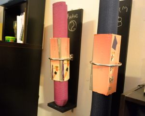 Homemade Yoga Mat Holders