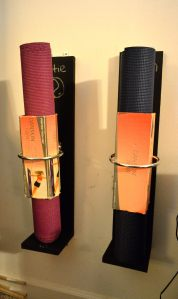 Yoga mat holders