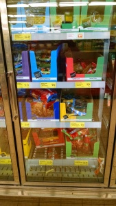 frozen foods at Aldi