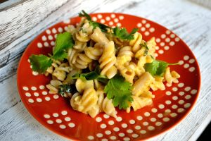 Cilantro-Garlic Pasta with Egg Sauce