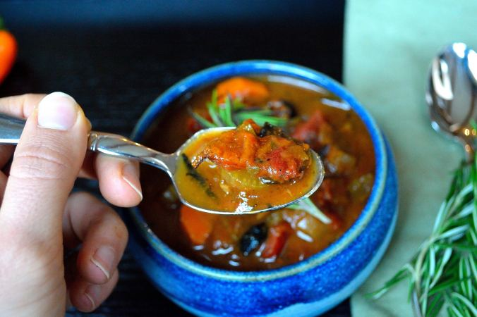 Roasted Pepper Vegetable Tomato Soup | Life Healthfully Lived