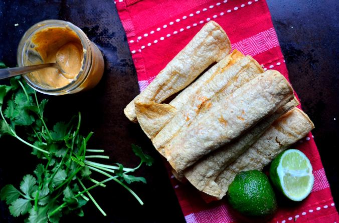 Buffalo Cauliflower Taquitos | Life Healthfully Lived