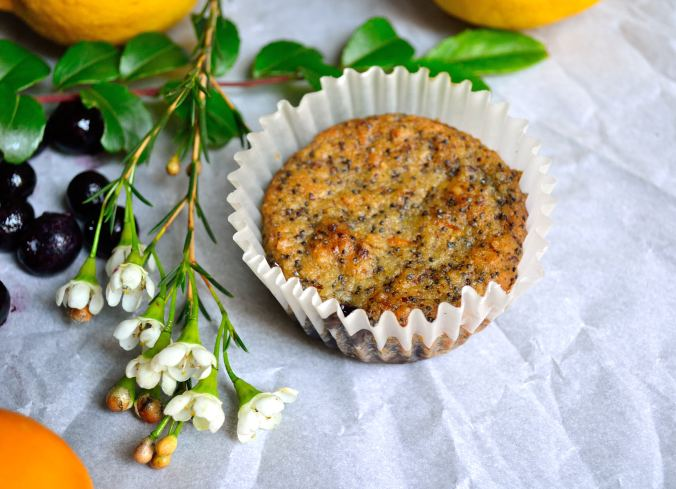 Meyer Lemon Poppy Seed Muffins with Blueberry Bottoms | Life Healthfully Lived