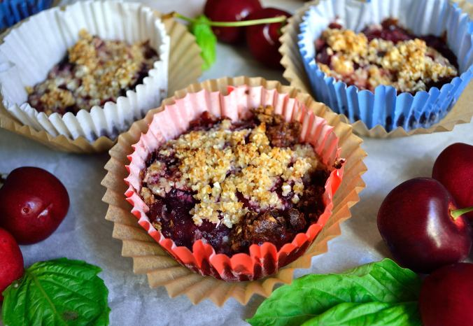 Individual Cherry Basil Cobbler | Life Healthfully Lived