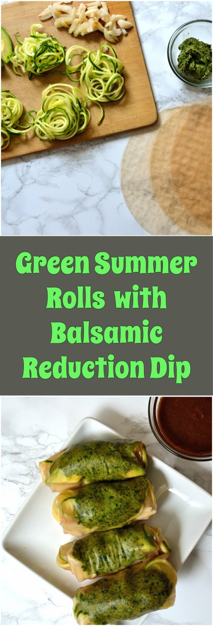 Green Summer Rolls with Balsamic Reduction Dip | Life Healthfully Lived