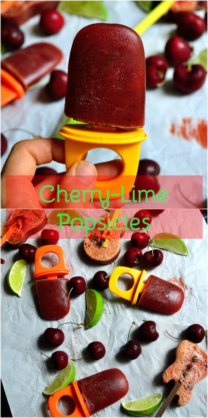 Cherry-Lime Popsicles | Life Healthfully Lived
