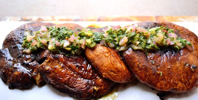 Marinated Portobello Steaks with Cilantro Chimichurri | Life Healthfully Lived