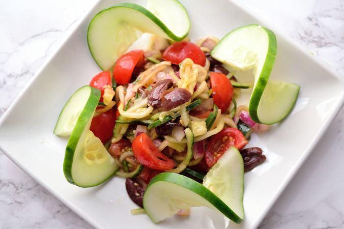 Spiralized Greek Salad | Life Healthfully Lived