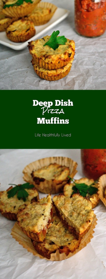 Deep Dish Pizza Muffins | Life Healthfully Lived