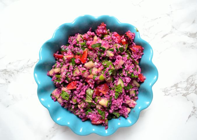 Purple Cauliflower Tabbouleh | Life Healthfully Lived