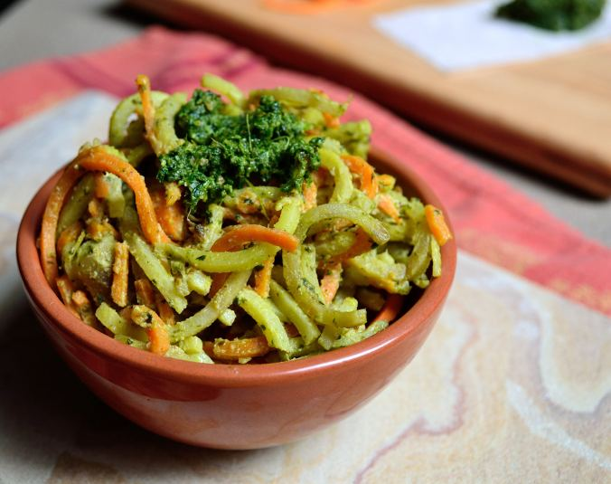 Creamy Pesto Sweet Potato Noodles | Life Healthfully Lived