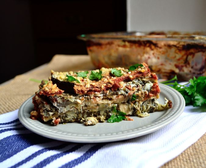 Spinach-Artichoke Eggplant Casserole | Life Healthfully Lived