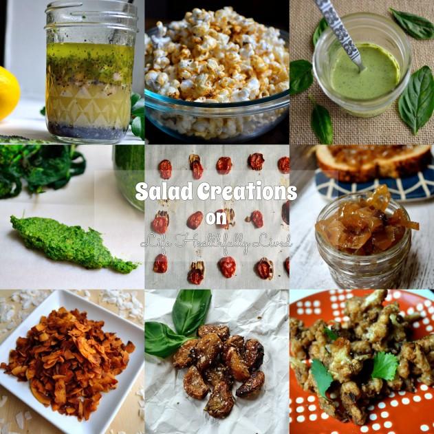 Salad Creations + Italian Roasted Garlic Cloves | Life Healthfully Lived
