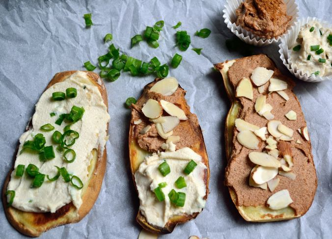 Sweet Potato Toast & Cashew Cream Cheese Two Ways | Life Healthfully Lived
