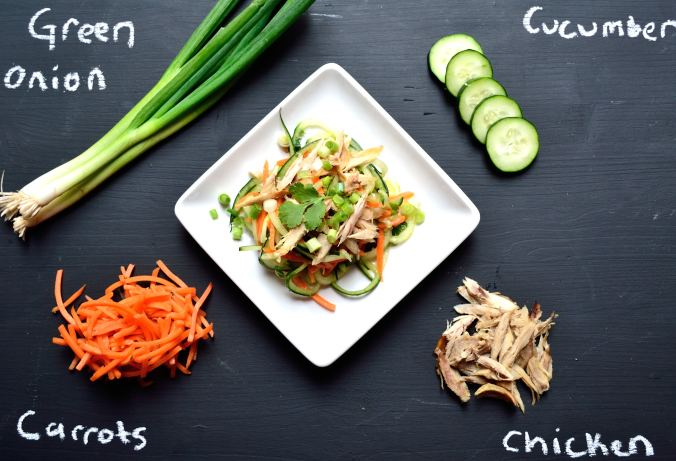Thai Chicken Cucumber Salad with Ginger Dressing | Life Healthfully Lived