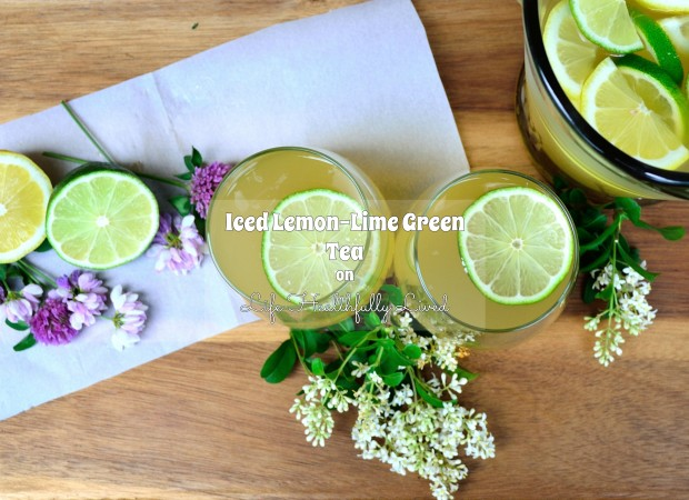 Iced Lemon-Lime Green Tea | Life Healthfully Lived