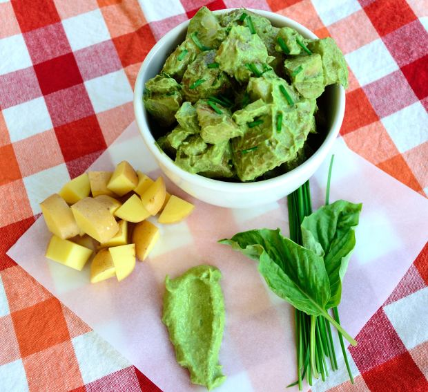 Roasted Green Potato Salad | Life Healthfully Lived