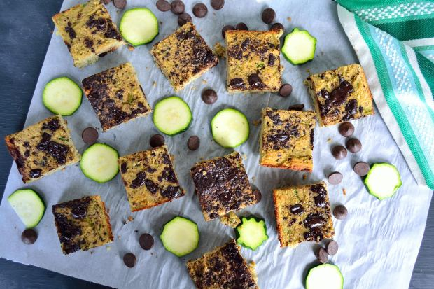 Dark Chocolate Zucchini Cake Bars | Life Healthfully Lived