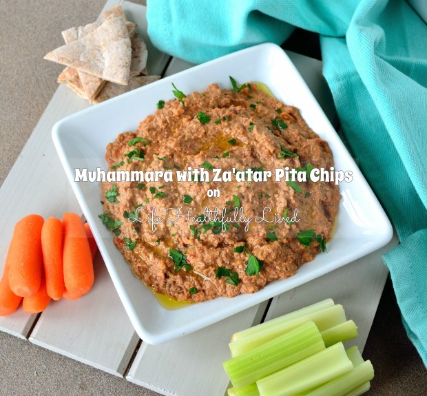 Muhammara with Za'atar Pita Chips | Life Healthfully Lived