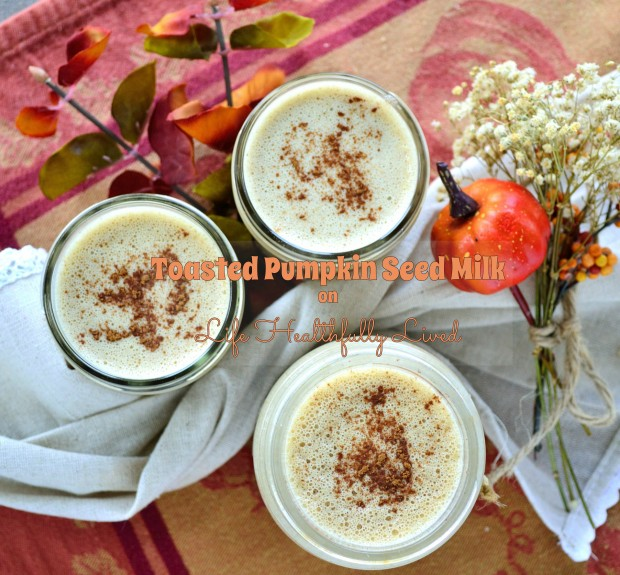 Toasted Pumpkin Seed Milk | Life Healthfully Lived