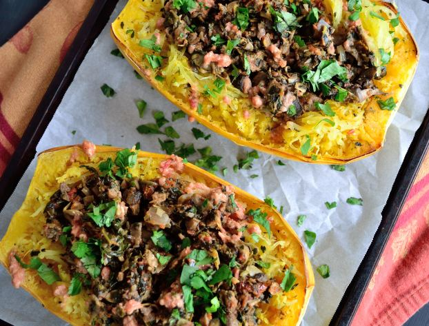 Tuscan Stuffed Spaghetti Squash | Life Healthfully Lived