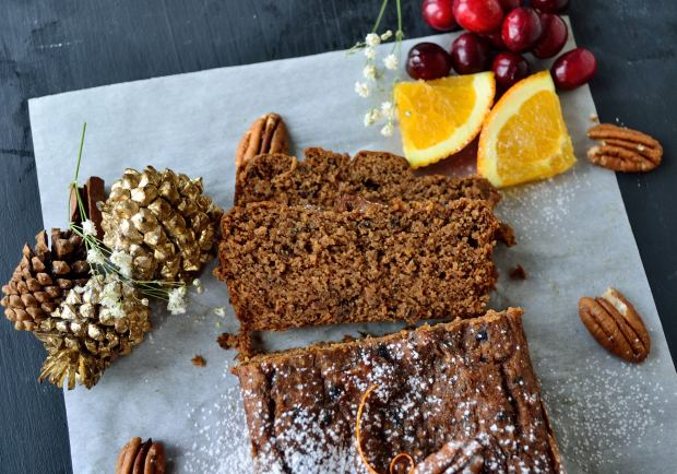 Orange Cranberry Gingerbread | Life Healthfully Lived