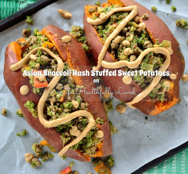 Asian Broccoli Hash Stuffed Sweet Potatoes | Life Healthfully Lived
