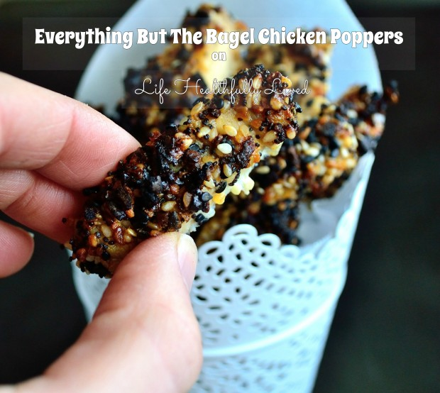 Everything But The Bagel Chicken Poppers | Life Healthfully Lived