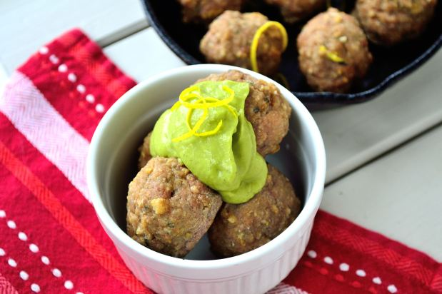 Lamb Meatballs with Roasted Green Pepper Sauce   Life Healthfully Lived
