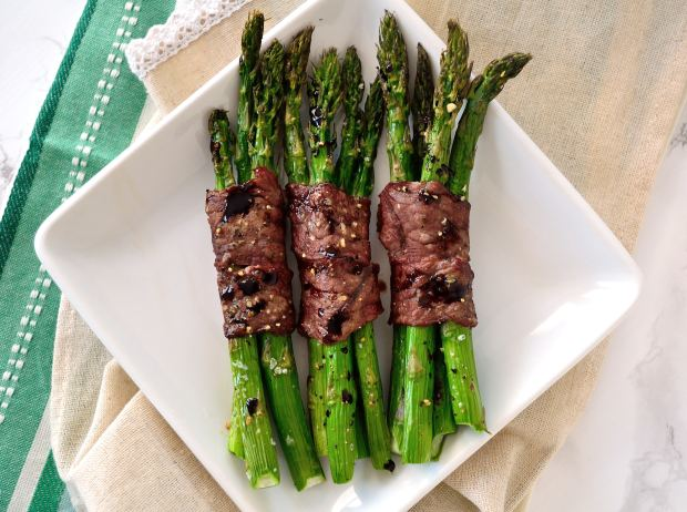 Steak & Asparagus Wraps | Life Healthfully Lived