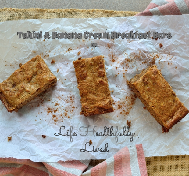 Tahini & Banana Cream Breakfast Bars | Life Healthfully Lived