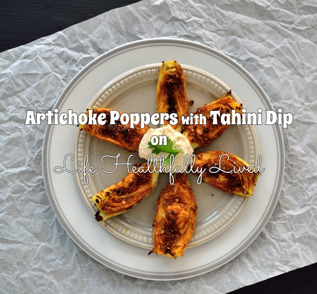 Artichoke Poppers with Tahini Dip | Life Healthfully Lived