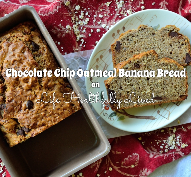 Chocolate Chip Oatmeal Banana Bread | Life Healthfully Lived